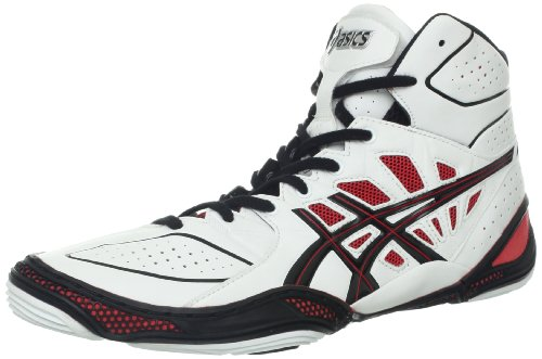 Black And Red Asics Wrestling Shoes Shoe,white/black/red,11