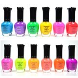 KLEANCOLOR NEON COLORS 12 FULL COLLETION SET NAIL POLISH LACQUER + FREE EARRING - Best Reviews Guide