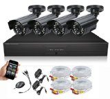 SEGUARD Surveillance Cameras system, dvr kit, security camera system 4 CH H.264 FULL D1 DVR with 4 Cameras,Support Iphone, Android, WinCE view, with all accessories (HDD Not Included) - Best Reviews Guide