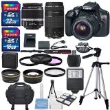 Canon EOS Rebel T6 DSLR Camera with EF-S 18-55mm f/3.5-5.6 IS II Lens, EF 75-300mm f/4-5.6 III Lens, and Deluxe Accessory Bundle - Best Reviews Guide