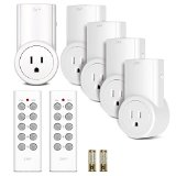 Etekcity Programmable Wireless Remote Control Power Outlet On/Off Switch Learning Code 5Rx-2Tx, White - Best Reviews Guide