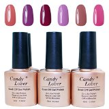 Candy Lover 6 pcs UV/LED Nail Lacquer Gel Polish 10ml Soak Off #10 - Best Reviews Guide
