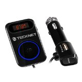 TeckNet Bluetooth 4.0 In Car Audio Connect AUX-Bluetooth With Music Control,Dual USB Charging ports and 3.5mm Stereo Audio Jack for iPod iPad iPhone 6S 6Plus SE 5S 5 Smart Phones and more - Best Reviews Guide
