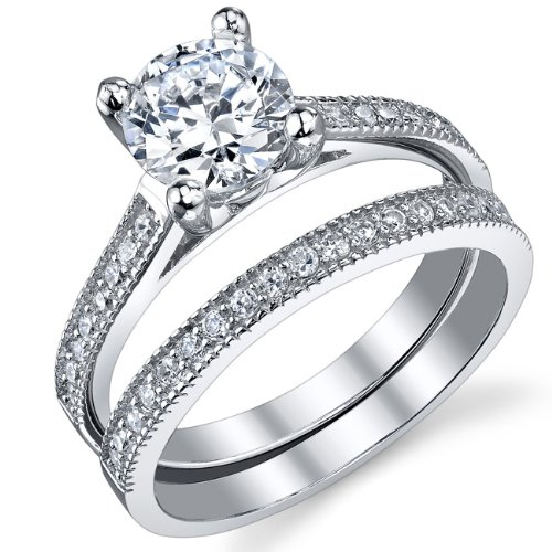 wedding engagement rings sets