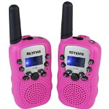 Retevis RT-388 Kids Walkie Talkies UHF 462.5625-467.7250MHz VOX 22CH Portable FRS/GMRS Two Way Radio with Flashlight (Pink,2 Pack) - Best Reviews Guide