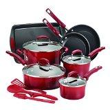 Rachael Ray 14-Piece Hard Enamel Nonstick Cookware Set, Red - Best Reviews Guide