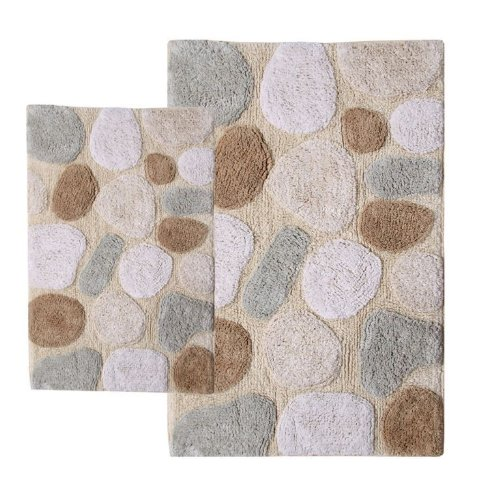 Piece Pebbles Bath Rug Set Spa